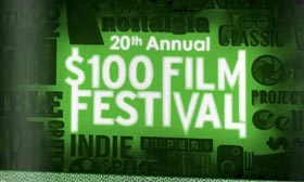 Text logo for the $100 Film Festival