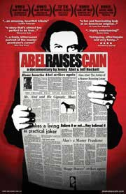 Movie poster featuring Alan Abel reading a newspaper