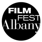 Circular text logo for the Albany Film Festival