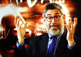Director John Landis in a sit-down interview