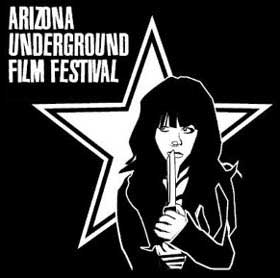 Film festival logo of a girl holding a knife