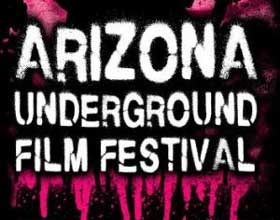 Text logo for Arizona Underground Film Festival