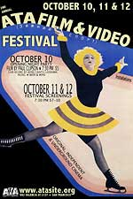 ATA Film and Video Festival poster featuring a drawing of a figure skater