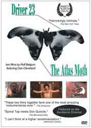 DVD cover featuring the faces of two men in the shape of a moth
