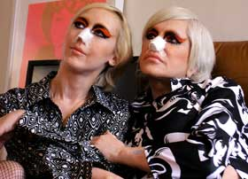 Genesis P-Orridge and Lady Jaye recovering from cosmetic surgery