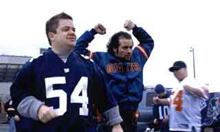Patton Oswalt and Kevin Corrigan as football fans