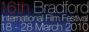Text logo for Bradford International Film Festival