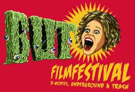 Film festival logo featuring a screaming woman