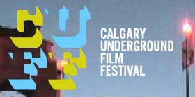 Text logo for the Calgary Underground Film Festival