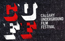 Logo for the Calgary Underground Film Festival