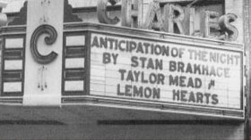 Charles Theater marquee Stan Brakhage and Taylor Mead