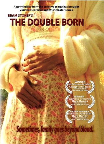 Movie poster featuring a pregnant woman holding her belly