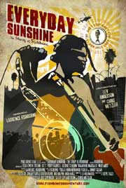 Documentary movie poster featuring an illustration of the band Fishbone