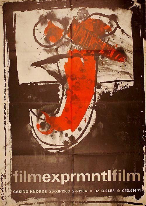 Poster for the EXPRMNTL film competition held in Knokke-le-Zoute, Belgium in 1963