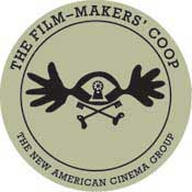 Logo for the Film-Makers' Cooperative which is a circle and an abstract image inside