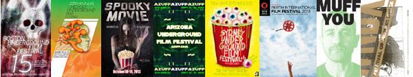 Selection of posters from underground film festivals