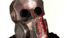 Bloody metal mask