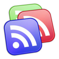 Google Reader logo of multiple RSS icons