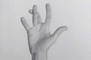 Hand flexing its fingers