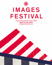 Minimalist poster for the 2013 Images Festival