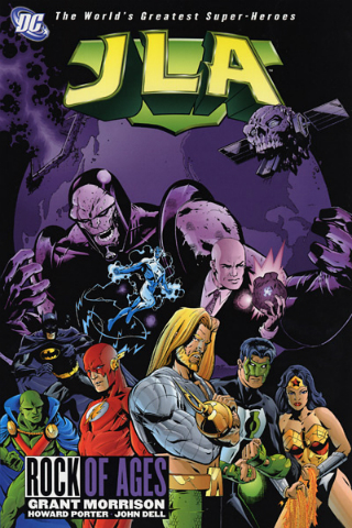 Cover for graphic novel JLA: Rock of Ages by Grant Morrison