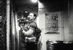 Jonas Mekas shooting The Brig
