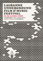 Film festival program cover featuring illustration of brick wall
