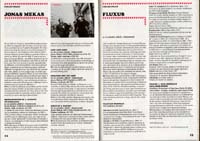 Film festival program scan featuring work of Jonas Mekas