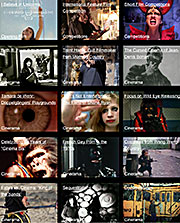 Grid of 15 movie stills from films screening at the Lausanne Underground Film Festival