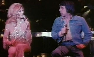 Nancy Sinatra and Lee Hazelwood on stage in Las Vegas