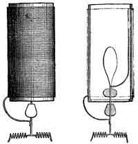 Drawing of two electrical lamps