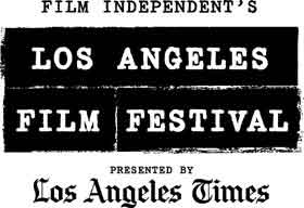 Los Angeles Film Festival logo that looks like newspaper type