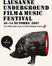 Lausanne Underground Film Festival poster featuring half a pig