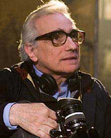 Martin Scorsese on set directing