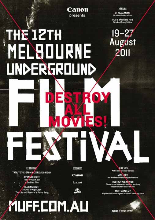 Poster for 12th Melbourne Underground Film Festival