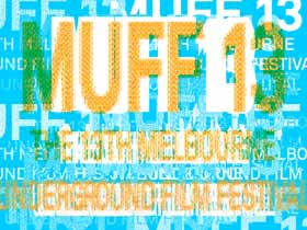 Blurry text logo for the 13th Melbourne Underground Film Festival