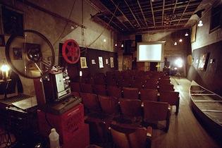Inside the Mini-Cine microcinema in Shreveport, Louisiana