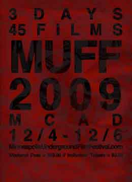 Rust colored poster for the Minneapolis Underground Film Festival