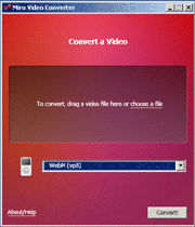 Miro Video Converter visual interface