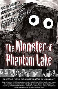 Movie poster featuring a cheap B-movie monster costume