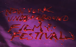 New York Underground film Festival written in blood
