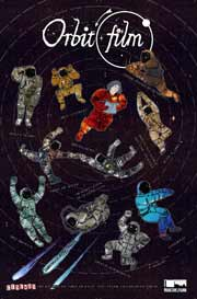 Orbit(Film) poster featuring astronauts dancing in space