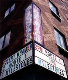Marquee of the now closed Pioneer Theater in New York City