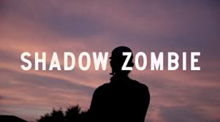 Man in silhouette at sundown with text Shadow Zombie