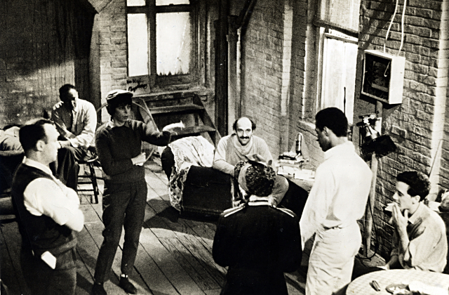 Shirley Clarke directs the cast of The Connection