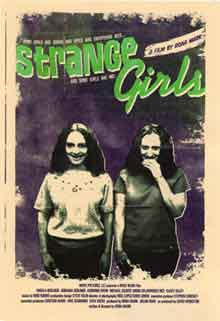 Movie poster featuring demented twin sisters