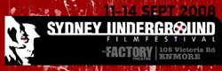 Sydney Underground Film Festival logo featuring a scene from Un Chien Andalou