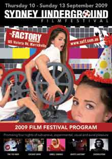 Sydney Underground Film Festival poster featuring girls in sexy poses