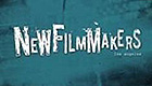 Blue green text logo for New Filmmakers Los Angeles