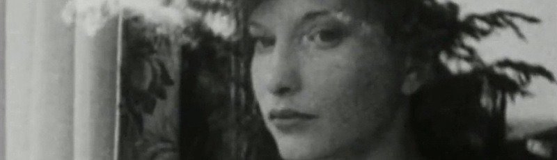 Maya Deren stares out the window in a still from her underground film Meshes of the Afternoon